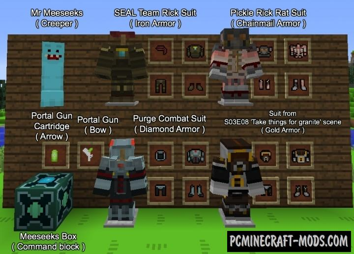 Rick and Morty Resource Pack For Minecraft 1.12.2