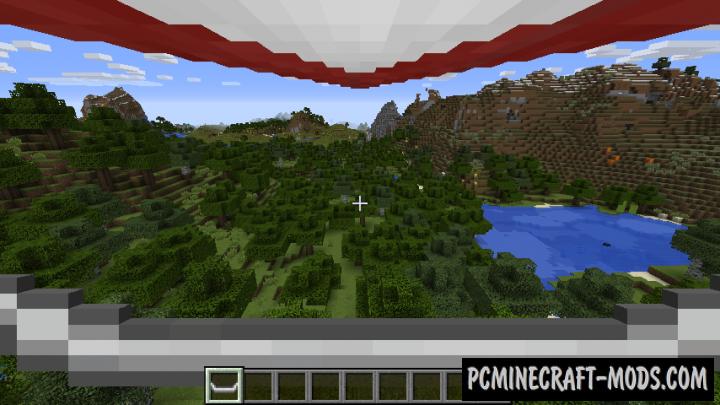 Open Glider Mod For Minecraft 1.12.2, 1.11.2, 1.10.2