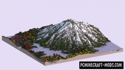 A Japanese-like Landscape Map For Minecraft