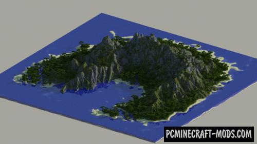 Jungle Island - Custom Terrain Map For Minecraft