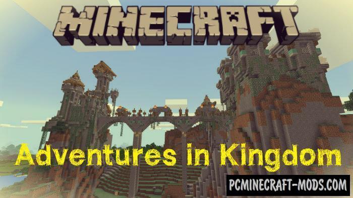 Adventures in Kingdom Minecraft PE Bedrock Map 1.5.0, 1.4.0, 1.2.13