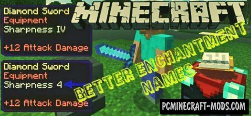 Better Enchantment Names Minecraft PE Mod 1.6.1