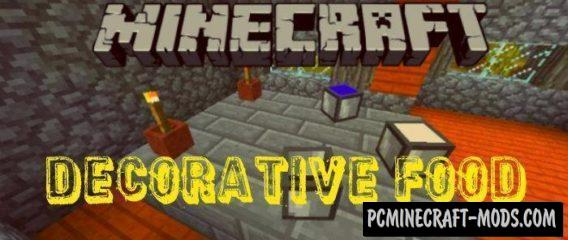 Decorative Food Minecraft PE Bedrock Mod 1.4.0, 1.2.16, 1.2.13