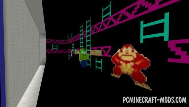 Donkey Kong Arcade - Minigame Minecraft PE Map 1.4.0