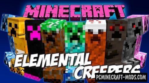Elemental Creepers Redux Mod For Minecraft 1.12.2