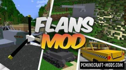 Flan's - Vehicle Core, API Mod For Minecraft 1.12.2, 1.8.9