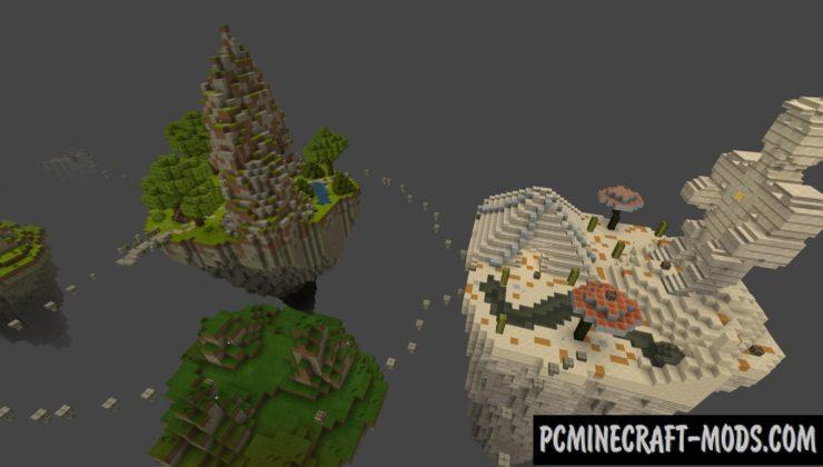 Foggy Flying Islands PvP Minecraft PE Map 1.5.0, 1.4.0, 1.2.13