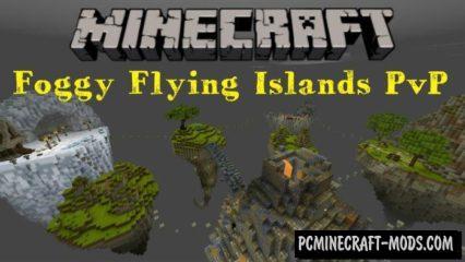 Foggy Flying Islands PvP Minecraft PE Map 1.3.0, 1.2.13, 1.2.10