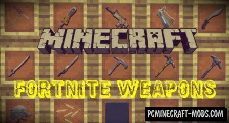 Fortnite Weapons Minecraft PE Mod 1.4.4, 1.4.2