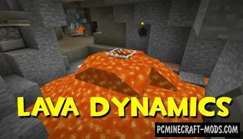 Lava Dynamics - Realistic Tweaks Mod For MC 1.16.5, 1.12.2