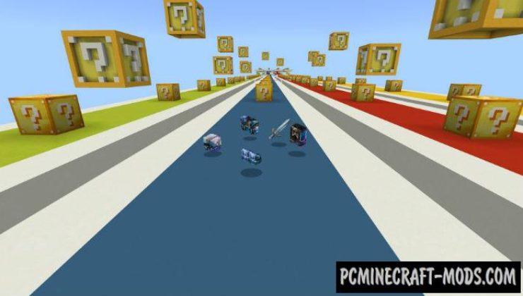 Lucky Blocks Race Mini-Game Minecraft PE Map 1.4.0, 1.2.13