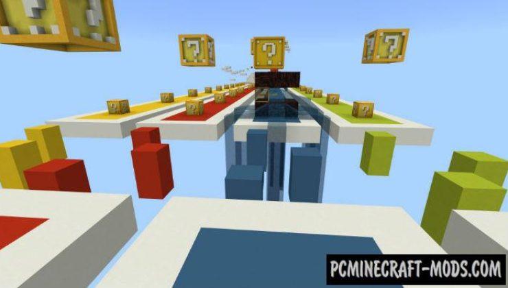 Lucky Blocks Race Mini-Game Minecraft PE Map 1.2.11, 1.2.10