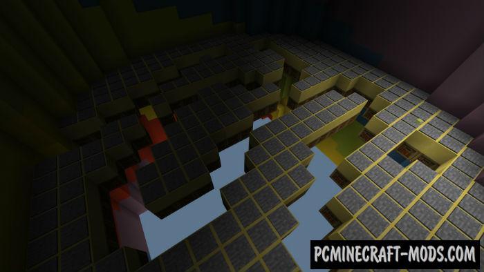 Multilevel TNT Run Minecraft PE Bedrock Map 1.4.0, 1.2.13
