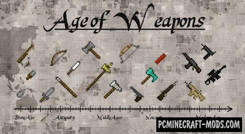 Age of Weapons Mod For Minecraft 1.12.2, 1.11.2