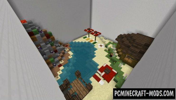 Secret Button Minecraft PE Bedrock Map 1.5.0, 1.4.0, 1.2.13