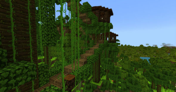 survival jungle village map for minecraft pe 1 4 0  1 2 13