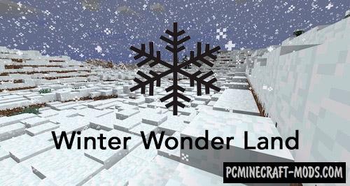 Winter Wonder Land Mod For Minecraft 1.12.2, 1.11.2, 1.10.2