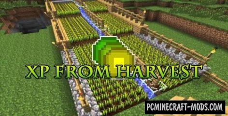 XP From Harvest - Tweak Mod For MC 1.15.2, 1.14.4, 1.12.2