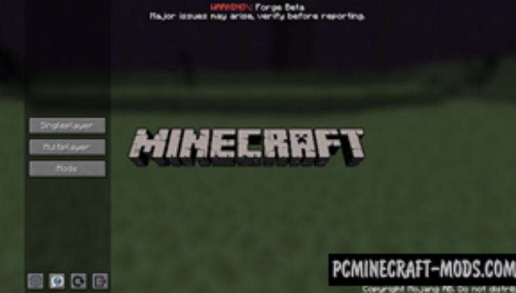 Custom Main Menu Mod For Minecraft 1.12.2, 1.11.2, 1.10.2, 1.7.10