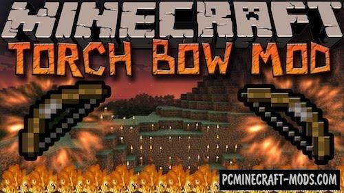 TorchBow - New Weapon Mod For Minecraft 1.15.2, 1.14.4