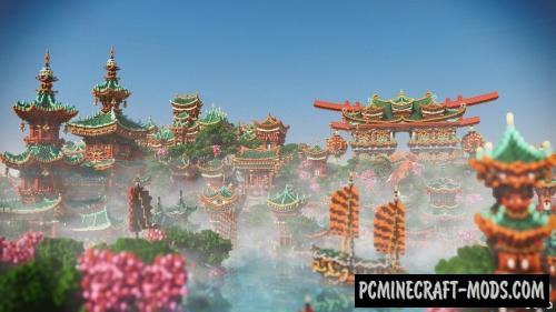 Xin Tiantang - City, Buildings Map For Minecraft