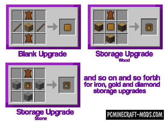 Improved Backpacks Mod For Minecraft 1.12.2, 1.11.2, 1.10.2