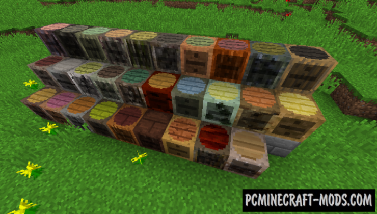 Charset Storage Barrels Mod For Minecraft 1.12.2