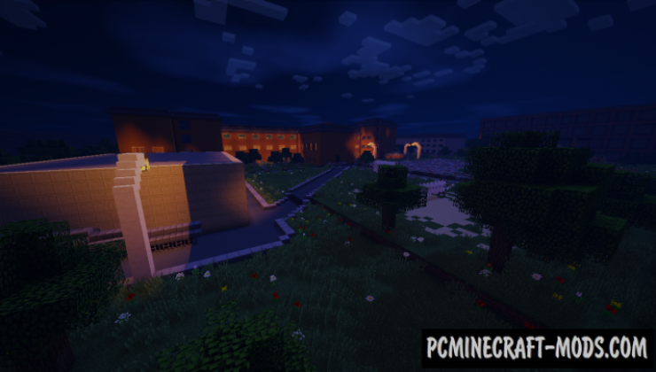 School #74 Map For Minecraft