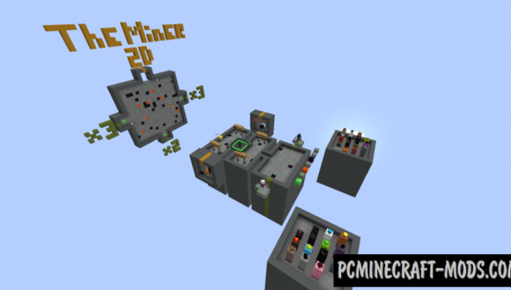 The Miner 2D Map For Minecraft