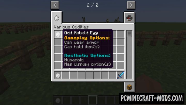 Various Oddities Mod For Minecraft 1.12.2