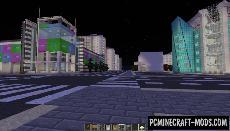 City in creative mode Map For Minecraft