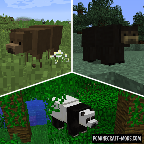 Bear With Me Mod For Minecraft 1.12.2, 1.11.2, 1.10.2