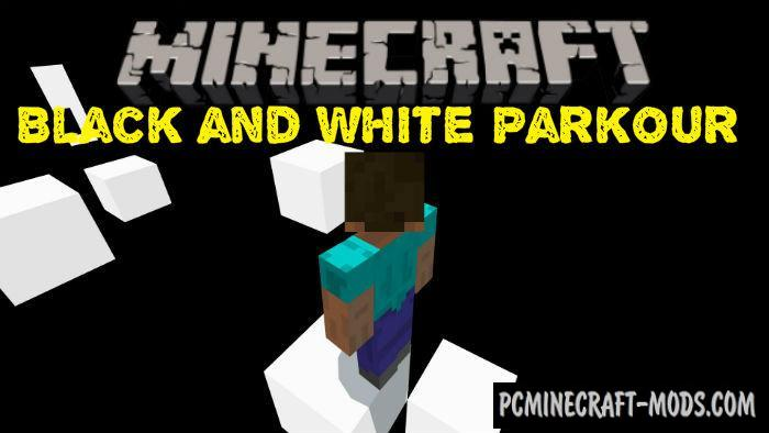 Black and White Parkour Minecraft PE Map 1.2.14, 1.2.13