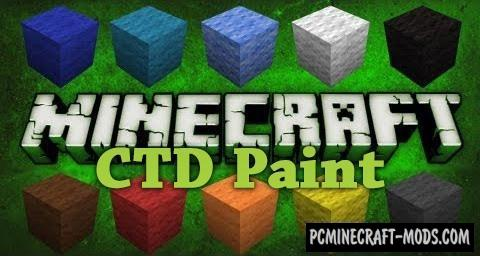 CTD Paint - Decor Mod For Minecraft 1.16.1, 1.15.2, 1.14.4