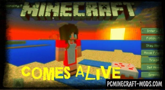 Comes Alive Minecraft PE Mod / Addon 1 12 0, 1 11 4 | PC