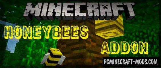 Honeybees Minecraft PE Mod / Addon For 1.4.0, 1.2.16, 1.2.13