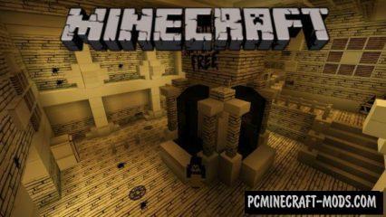Horror Cartoon Minecraft PE Bedrock Map 1.2.15, 1.2.14, 1.2.13