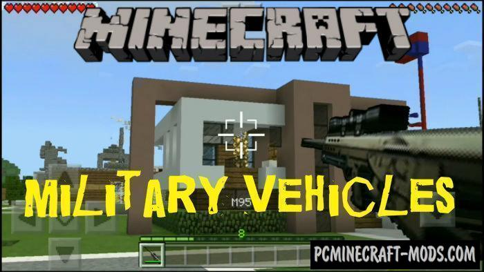 Military Weapons & Vehicles Minecraft PE Mod 1.9.0, 1.8.0, 1.7.0