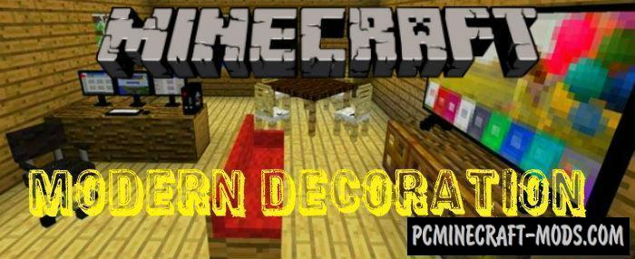 Modern Decoration Minecraft PE Mod / Addon 1.11, 1.10, 1.9.0
