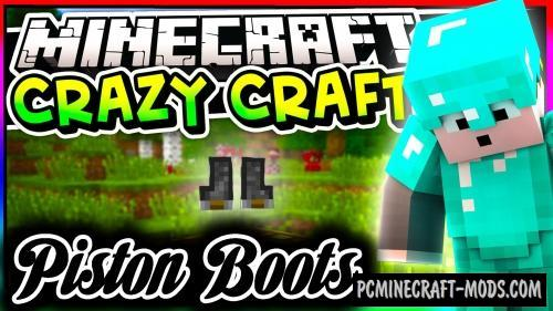 Piston Boots Command Block For Minecraft 1.12.2
