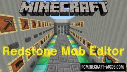 Redstone Mob Editor Minecraft PE Map 1.2.20.2, 1.2.16, 1.2.13