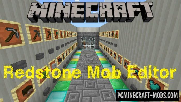Redstone Mob Editor Minecraft PE Map 1.4.0, 1.2.16, 1.2.13