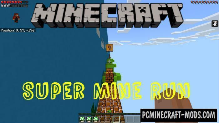 Super Mine Run Parkour ENG/ESP Minecraft PE Map 1.4.0, 1.2.13