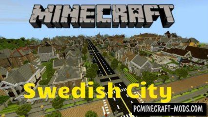 Swedish City Minecraft PE Map 1.5.0, 1.4.0, 1.2.13