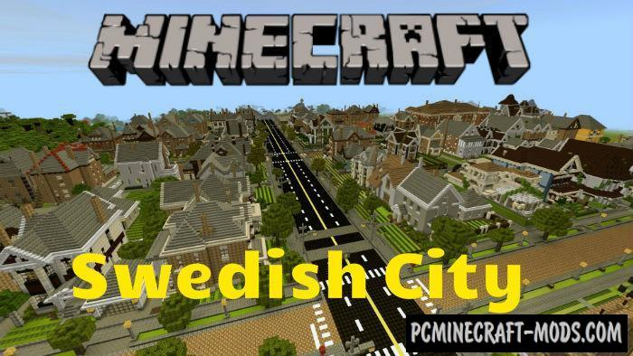 Swedish City Minecraft PE Map 1 5 0, 1 4 0, 1 2 13 | PC Java