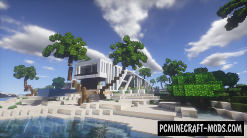 Modern House Of Beach Map For Minecraft