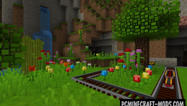 Block Pixel Resource Pack For Minecraft 1.12.2