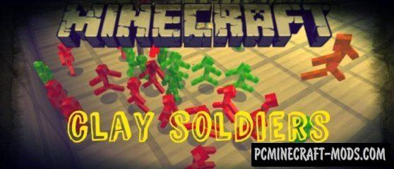 Clay Soldiers Minecraft PE Mod For 1.5.0.4, 1.4.0, 1.2.16, 1.2.13