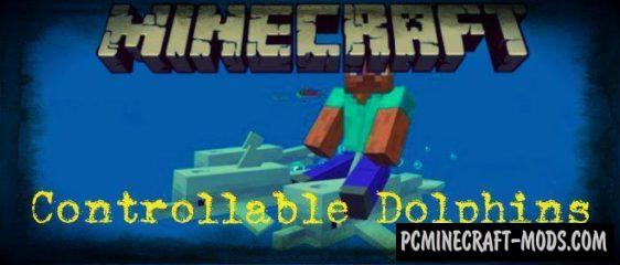 Controllable Rideable Dolphins Minecraft PE Addon 1.9.0, 1.7.0
