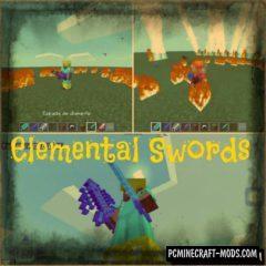 Elemental Swords Minecraft PE Mod 1.4.0, 1.2.13